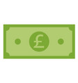 pound icon on white background flat style pound vector image vector image