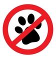 Prohibiting icon vector image