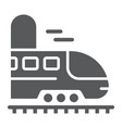 railroad trip glyph icon travel and tourism vector image