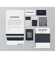 realistic corporate identity business set design vector image