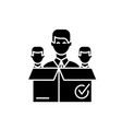 remote business team black icon sign on vector image vector image