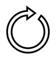 rotate arrow line icon vector image vector image