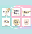 sale website banners web template collection can vector image vector image