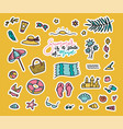 set fashion patches cute colorful badges vector image