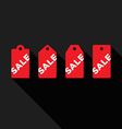 Set of sale tags flat design icon vector image vector image
