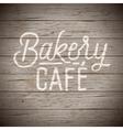 slogan wood brown bakery cafe vector image vector image