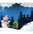 Snowman postman vector image vector image