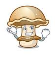 successful portobello mushroom character cartoon vector image vector image