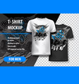 t-shirt template fully editable with atv off-road vector image