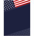 united states abstract flag symbols corner border vector image vector image