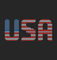 usa text in flag colors vector image vector image