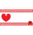 valentines or wedding love template with space vector image vector image