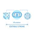 vr aviation concept icon vector image vector image