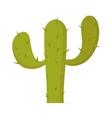 Plant carnegiea gigantea green cactus cartoon vector image