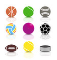 set of sports icons vector image