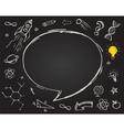 education science doodles on chalkboard vector image