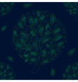 Green Tree on Green Blue Background vector image