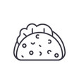 taco line icon sign on vector image
