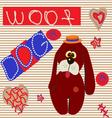 0615 11 dog card v vector image vector image