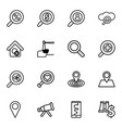 16 search icons vector image vector image