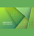 abstract 3d banner with green paper layers vector image vector image