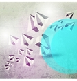 abstract diamond background vector image