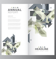 Annual business report template vector image vector image