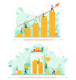 attraction and accumulation capital golden coin vector image vector image