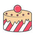 baked cake isolated icon vector image vector image