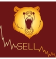 Bear short selling vector image