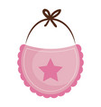beautiful accessories baby vector image vector image