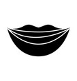 beautiful mouth icon vector image vector image