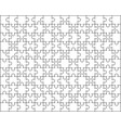 big white puzzles vector image vector image