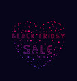 black friday sale banner poster vector image vector image