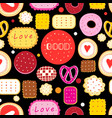 bright seamless pattern multicolored tasty vector image vector image