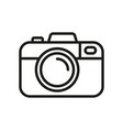camera icon photo line icon minimalistic vector image vector image