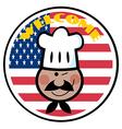 Cartoon chef logo vector image vector image