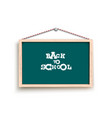 chalkboard with back to school words vector image vector image