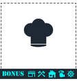 Chef hat icon flat