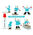 Children winter amusements vector image