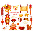 chinese lunar new year holiday icon design vector image