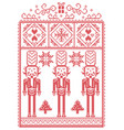 christmas pattern with nutcracker vector image vector image