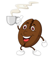 Coffee bean cartoon character vector image