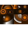 Collection of different backgrounds vector image