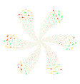 confetti stars swirl flower with six petals vector image vector image