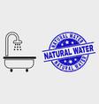 contour shower bath icon and distress vector image vector image