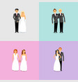couples with different sexual orientations vector image vector image