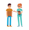 doctor or nurse and patient professional medical vector image vector image