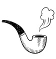 Doodle pipe smoke vector image