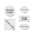 empty postal stamp template with shadow and vector image vector image